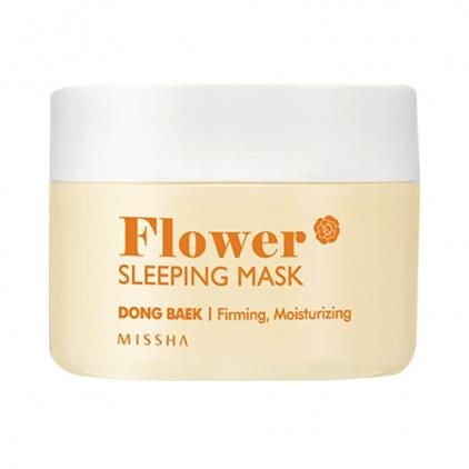 MISSHA Flower Sleeping Mask Dong Beak ( maska nocna ujędrniająco -nawilżająca z ekstraktem z kamelii) 105ml