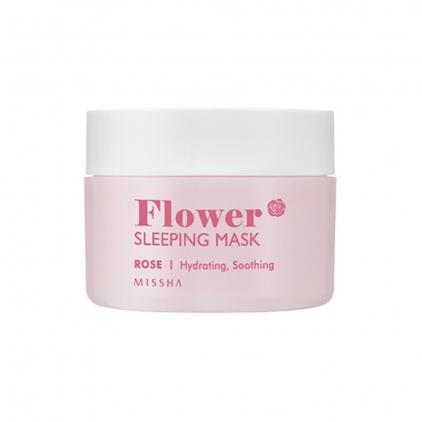 MISSHA Flower Sleeping Mask Rose ( maska nocna nawilżająco- wygładzająca z wodą z róży damasceńskiej) 105ml