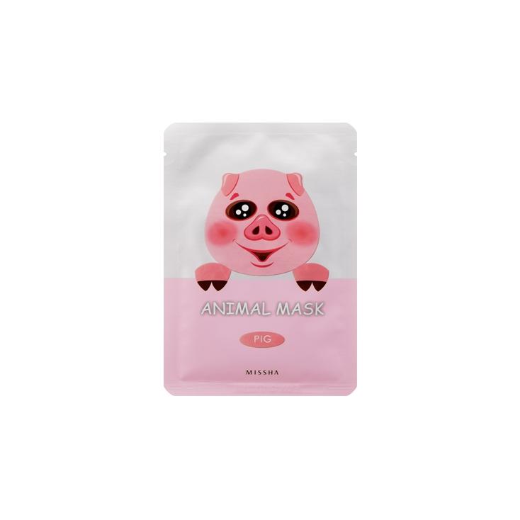 MISSHA  Animal Mask Pig ( maseczka bawełniana z hydrożelem  ujędrniająca ŚWINKA)