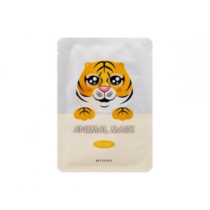 MISSHA  Animal Mask Tiger ( maseczka bawełniana z hydrożelem przeciwzmarszczkowa TYGRYS)