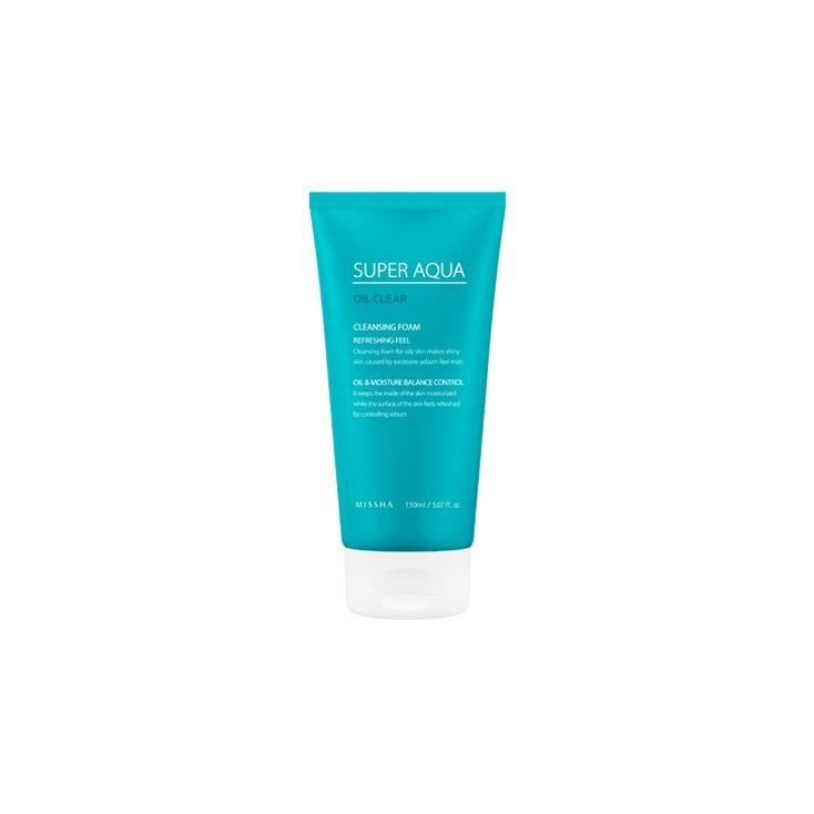 MISSHA  Super Aqua Oil Clear Cleansing Foam Refreshing Feel (pianka  oczyszczająca do cery problematycznej) 150ml