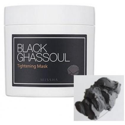 MISSHA Black Ghassoul Tightening Mask  (maska zwężająca i oczyszczająca pory z glinką i węglem drzewnym) 95g