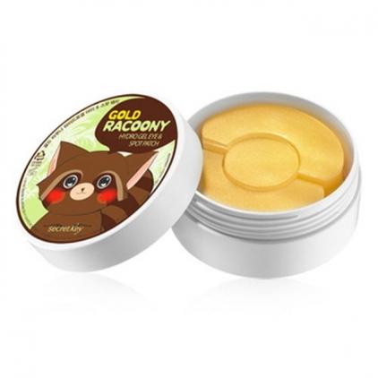 SEKRET KEY Gold Racoony Hydro-Gel & Spot Patch (półokrągłe rozświetlające płatki pod oczy ) 90szt