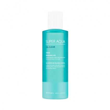 MISSHA Super Aqua Oil Clear Toner (tonik kontrolujący wydzielanie sebum) 180ml