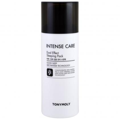 TONY MOLY Intense Care Dual Effect Sleeping Pack (rozświetlająco-wygładzająca maseczka na noc) – 100ml