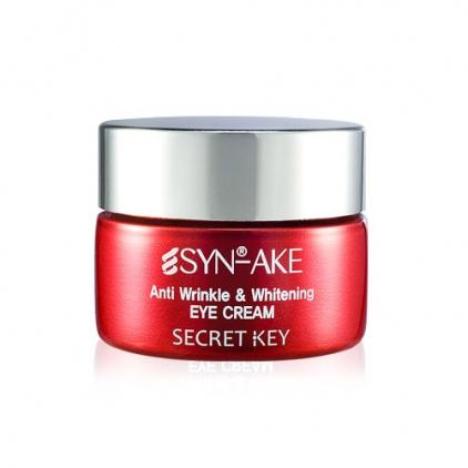 SECRET KEY Syn Ake Anti Wrinkle & Whitening Eye Cream Przeciwzmarczkowy krem pod oczy wygładzający - 15g