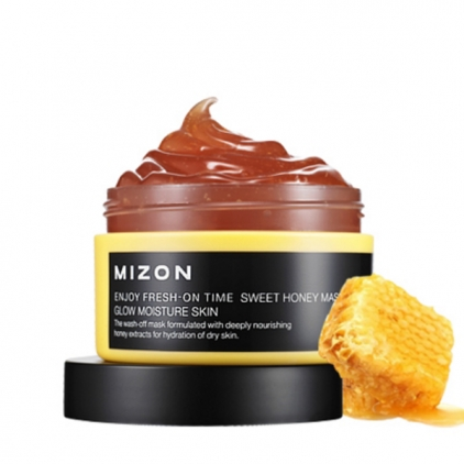 MIZON Enjoy  Fresh-On Time Sweet Honey Mask Glow Moisture(maska nawilżająca miodowa) 100ml