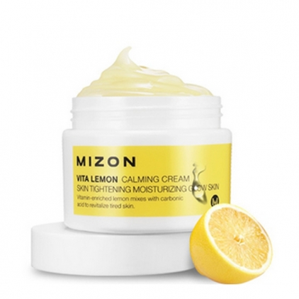 MIZON Vita Lemon Calming Cream Moisturizing Glow Skin (odżywczy, kojący krem do twarzy)krem  50ml