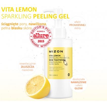 MIZON Vita Lemon Sparkling Peeling Gel Skin Tightening (peeling enzymatyczny) 150g
