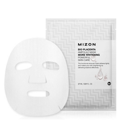 MIZON Bio Placenta  Ampoule Mask (maska w płacie rozjaśniajaca) 27ml