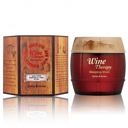 HOLIKA HOLIKA Wine Therapy Sleeping Mask (Red Wine) całonocna maska  120ml