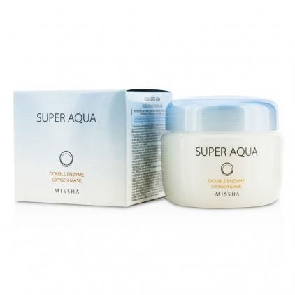 MISSHA Super Aqua Double Enzyme Oxygen Mask (Maska do twarzy dotleniająca i peeling ) 70g