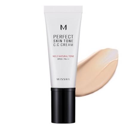 MISSHA M Perfect Skin Tone C. C Cream NO.2 (krem C.C wyrównujący koloryt cery)  40ML