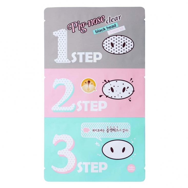 HOLIKA HOLIKA Pig-nose Clear Black Head 3-step kit (zestaw oczyszczający pory na nosie) 7g