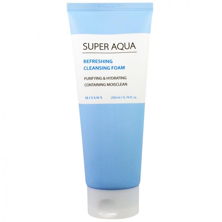 MISSHA Super Aqua Refreshing Cleansing Foam (pianka do mycia twarzy nawilżająca) 200ml