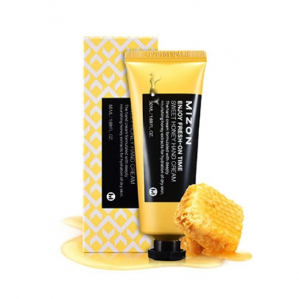 MIZON Enjoy Fresh-On Time Sweet Honey Hand Cream ( miodowy krem do rąk głęboko nawilża i odżywia ) 50ml