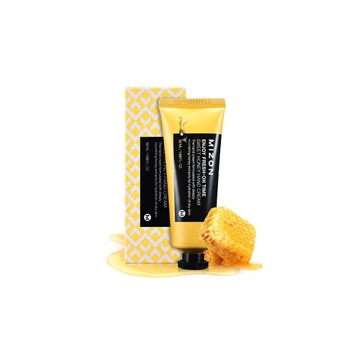 MIZON Enjoy Fresh-On Time Sweet Honey Hand Cream ( miodowy krem do rąk głęboko nawilża i odżywia ) 50ml
