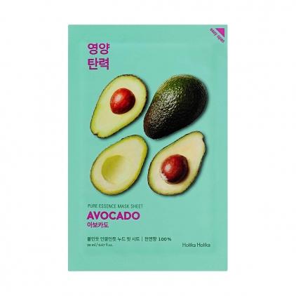 HOLIKA HOLIKA Pure Essence Mask Sheet AVOCADO (maseczka wzmacniająca barierę lipidową z ekstraktem z Avokado w płacie) 20ml