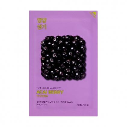 HOLIKA HOLIKA Pure Essence Mask Sheet ACAI BERRY (maseczka odżywcza z ekstraktem z owoców Acai BERRY w płacie) 20ml