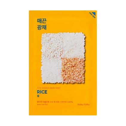 HOLIKA HOLIKA Pure Essence Mask Sheet RICE (maseczka wygładzająco-rozświetlająca z ekstraktem z RYŻU w płacie) 20ml