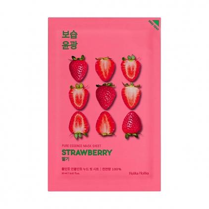 HOLIKA HOLIKA Pure Essence Mask Sheet STRAWBERRY (maseczka nawilżająco-rozświetlająca z ekstraktem z TRUSKAWEK w płacie) 20ml