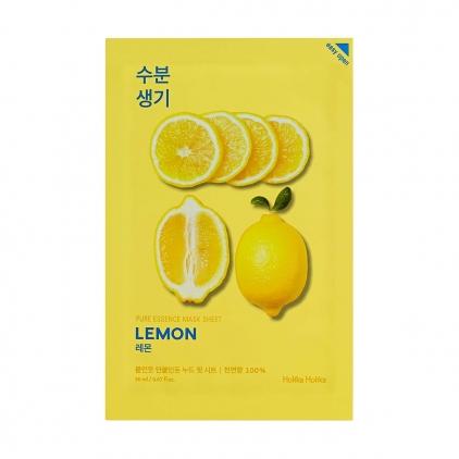 HOLIKA HOLIKA Pure Essence Mask Sheet LEMON (maseczka nawilżająco-rozjaśniająca z ekstraktem z CYTRYNY w płacie) 20ml