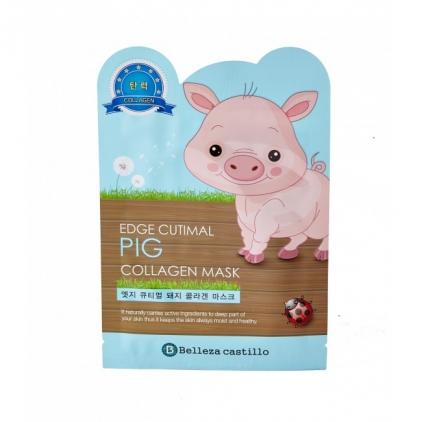 SAMSUNG/Belleza Castillo Edge Cutimal PIG Collagen Mask (maska z kolagenem ŚWINKA w płachcie) 25g)