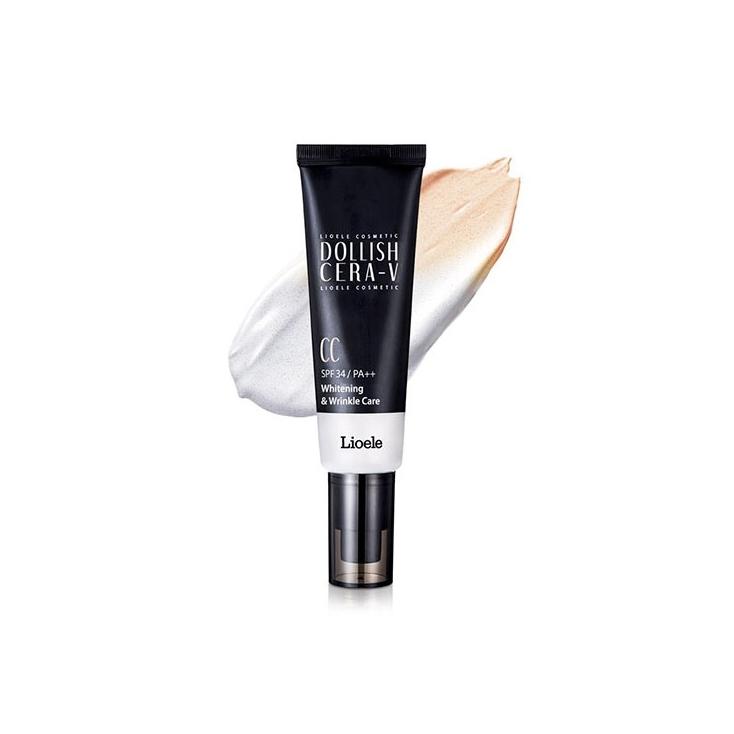 LIOELE  Dollish Cera -V  CC SPF34/PA++ Whitening & Wrinkle Care ( krem CC wielofunkcyjny do twarzy) 50ml