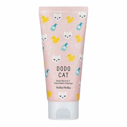 HOLIKA HOLIKA Dodp Cat Dust Out 3 in 1 Trans-foam Cleanser ( pianka do mycia twarzy z kaolinem) 120ml