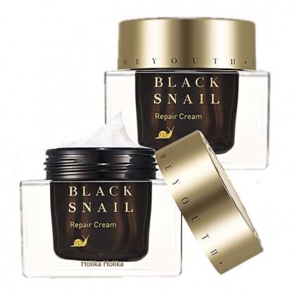 HOLIKA HOLIKA Black Snail Repair Cream (krem wielofunkcyjny do twarzy z 70% filtratem  ze śluzu ślimaka) 50ml