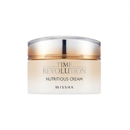 MISSHA Time Revolution Nutritious Cream (odżywczo-nawilżający krem do twarzy na bazie czarnej soczewicy) 50ml