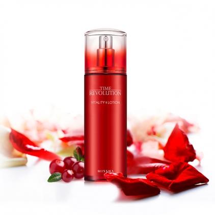 MISSHA Time Revolution Vitality Lotion (lotion silnie  rewitalizujący na bazie czerwonych owoców) 130ml