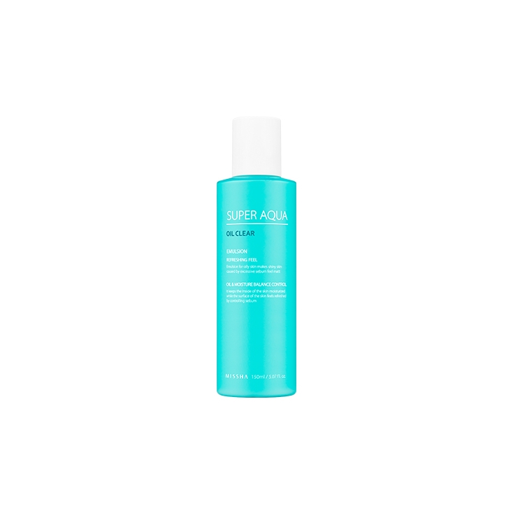 MISSHA  Super Aqua Oil Clear Emulsion Refreshing Feel (emulsja kontrolująca wydzielanie sebum) 150ml