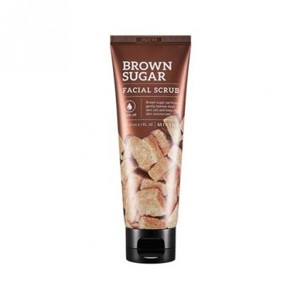MISSHA Brown Sugar Facial Scrub (peeling do twarzy na bazie brązowego cukru) – 120ml
