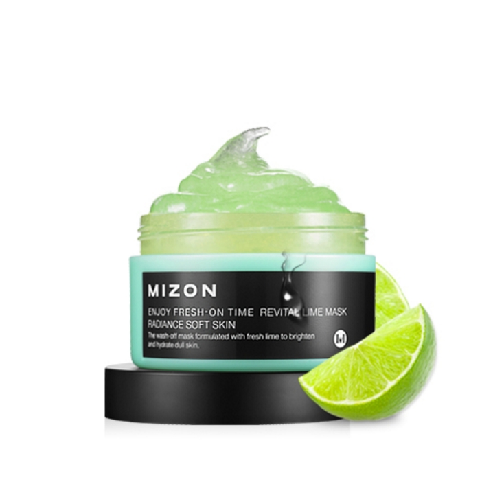 MIZON Enjoy Fresh-On Time Revital Lime Mask Radiance  soft skin 100ml
