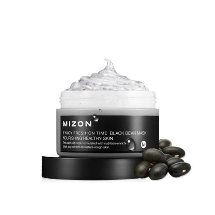 MIZON Enjoy Fresh-On Time Black Bean Mask Nourishing Healthy skin 100ml