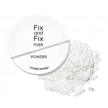 ETUDE HOUSE Fix and Fix FIXER POWDER - Matujący puder do wykończenia makijażu -10g