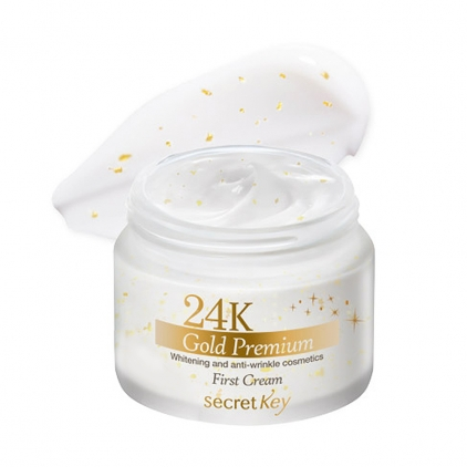 SECRET KEY 24K GOLD PREMIUM First Cream Rozświetlający krem do twarzy - 50g