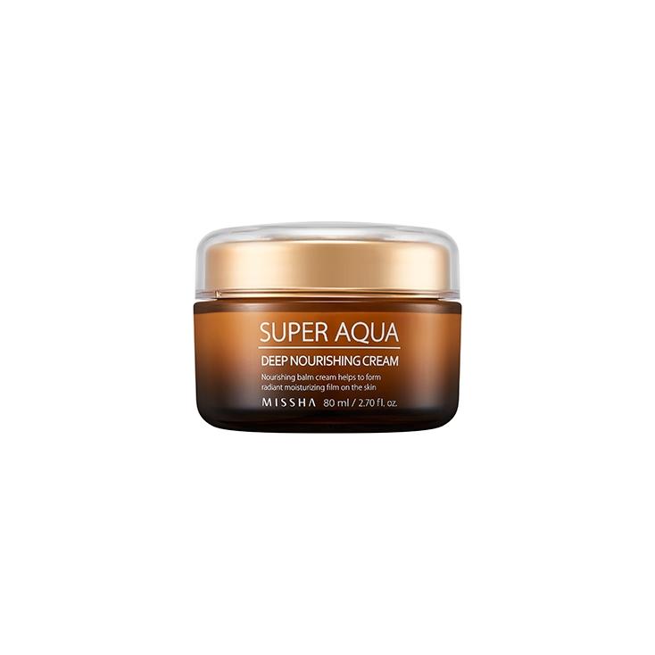 Missha Super Aqua Deep Nourishing Cream - Odżywczy krem rewitalizujący - 80ml