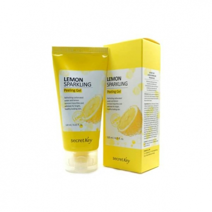 SECRET KEY Lemon Sparkling Sparkling Peeling Gel Cytrynowy peeling do twarzy 120ml
