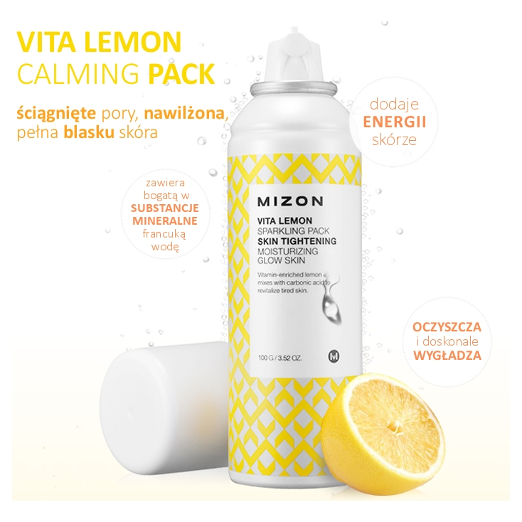 MIZON Vita Lemon Sparkling Pack Skin Tightening 100g