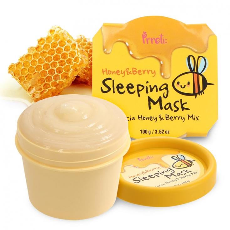 PRRETI Honey&Berry SLEEPING MASK, Maseczka na noc do twarzy - 100ml