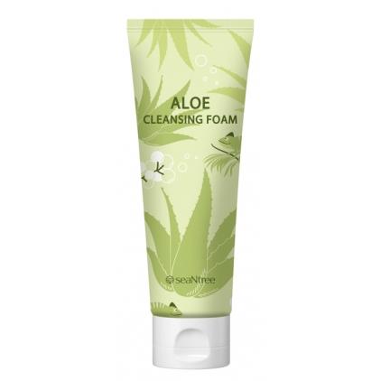 SEANTREE Aloe Cleansing Foam- Pianka nawilżająca z ALOESEM do mycia twarzy 120ml