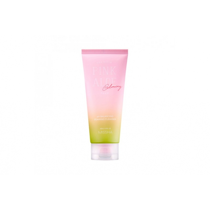 Missha Premium Pink Aloe Calming Foam -Pianka z aloesem  cery wrażliwej 140ml