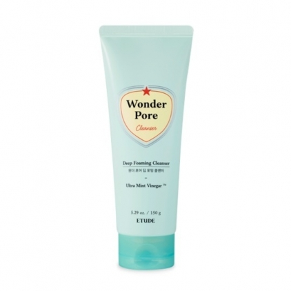 ETUDE HOUSE Wonder Pore Deep Foaming Cleanser (pianka oczyszczająca, chłodząca i odblokowująca pory na twarzy)   170ml