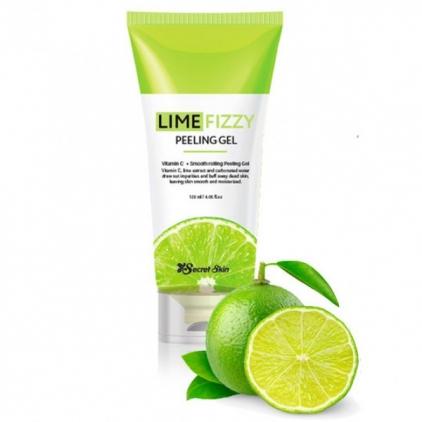 Secret Skin LIME FIZZY Peeling Gel Vitamin  C+ Smooth Rolling Peeling Gel - Peeling do twarzy 120ml