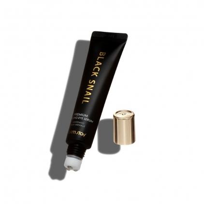 FARM STAY Black Snail Premium Rolling Eye Serum nawilżające roll-on pod oczy z filtratem śluzu ślimaka 25ml