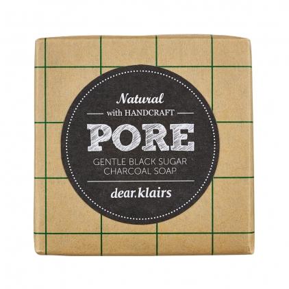 KLAIRS Gentle Black Sugar Charcoal Soap (delikatne mydło oczyszczające) 120g
