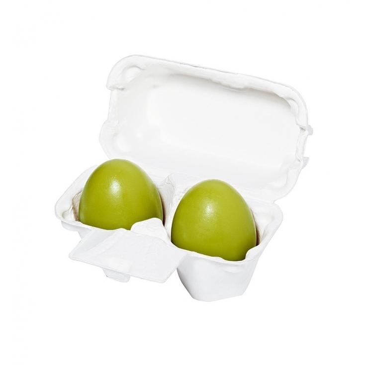 HOLIKA HOLIKA Green Tea Egg Soap(mydełko do mycia twarzy z ekstraktem zielonej herbaty 2szt)