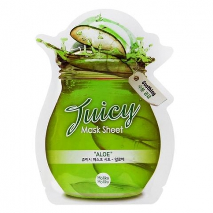 "HOLIKA HOLIKA Juicy Mask Sheet ''ALOE"" (maska w płacie z ekstraktem z aloesu)"